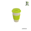2018 Hot Sale Colorful Bamboo Fiber Coffee Cup With Silicone Lid And Holder
