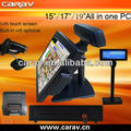 17inch hot selling pos billing machine with 1280*1024 resolution with printer and barcode scanner