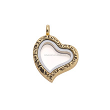 Alloy Jewelry Main Material And Charm Pendants Type Glass Memory Floating Locket