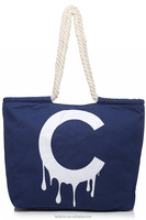 Reusable shoulder fancy shopping tote canvas bag