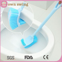 New Design Long Arm PP Double Sided Curved Toilet Bowl Cleaning Brush/Toilet Cleaning Brush/Cleaning Scrubber