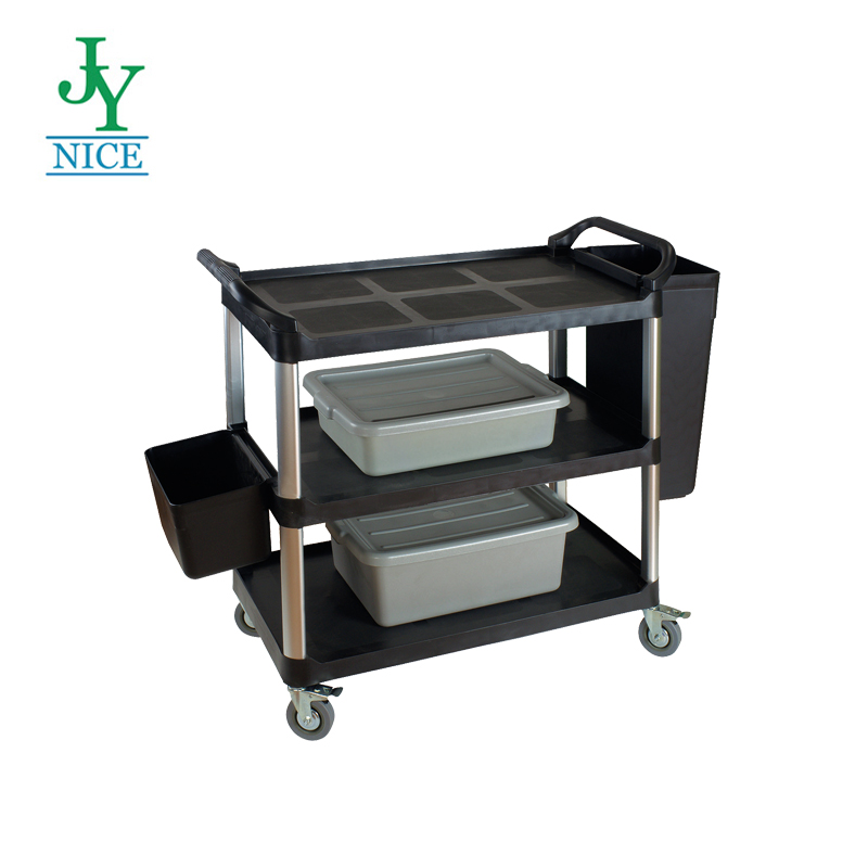 Hotel Room Service Equipment Manufacturer Philippines 4 Wheel Food Service Trolley Cart