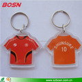Manufactory custom transparent acrylic T-shirt keychain wholesale