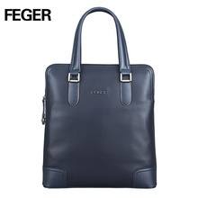 FEGER vertical trend cow leather small handbag crossbody handy shoulder bag wholesale for business man