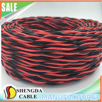2 Core Twisted Red and Black Lamp Wire