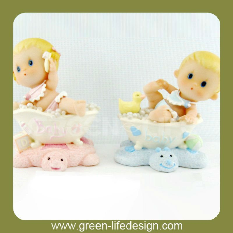 Lovely gift,polyresin baby kids figures,unique
