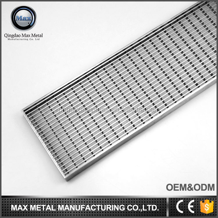 Custom deisgn MOQ=10pcs stainless steel heavy duty grating trench drain cover, car wash floor drain grate