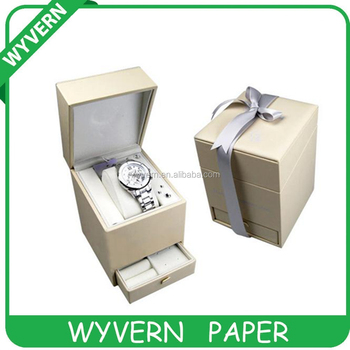 [Wyvern]Elegant cardboard paper luxury watch box for watch packing