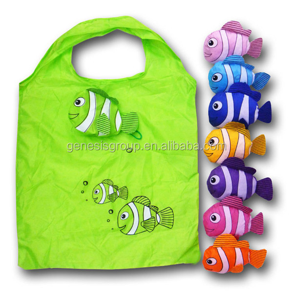 Polyester Material and Shopping Bag Use fish foldable bag