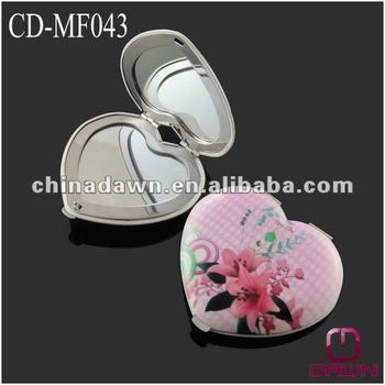 Wedding gift pink purse size mirror for invitation CD-MF043