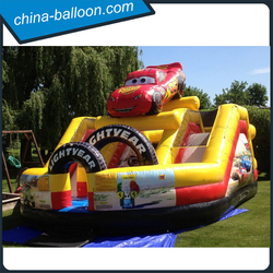 New design inflatable car model /4 in 1 inflatable combo for boys outdoor game
