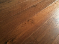American Walnut natural color brushed engineered timber flooring