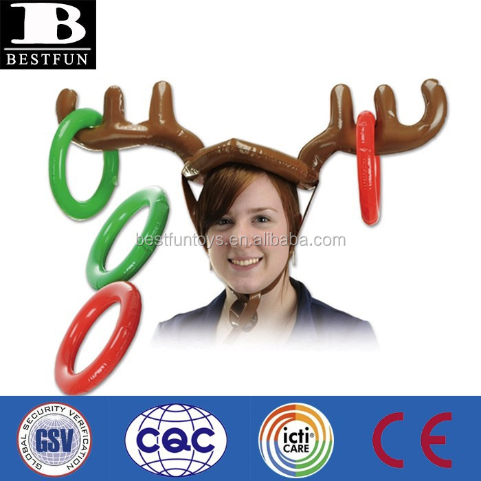 Promotional customized inflatable reindeer ring toss plastic ring toss