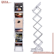 Collapsible Magazine Stand A4 Metal Foldable Brochure Holder