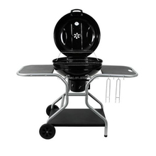 Porcelain enameled adjustable outdoor charcoal grill bbq for sale