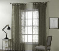 China Factory Wholesale 100% Cotton Sheer Burnout Curtain