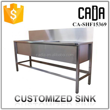 new exquisite workmanship handmade used commercial workable stainless steel laboratory sink bench