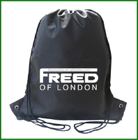 Eco- friendly 190T polyester drawstring bags for promotional
