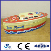 2015 silver plated jewelry box, trinket box in boat shape