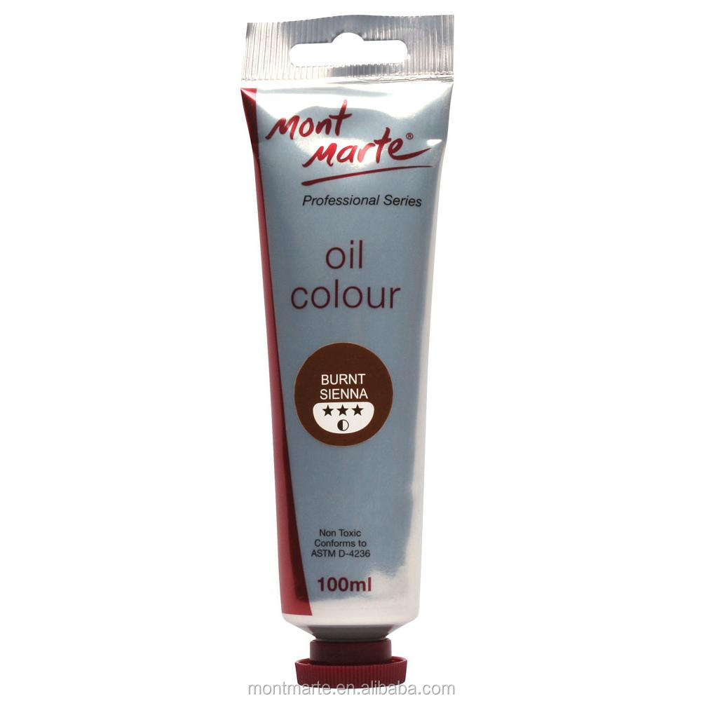 Mont Marte Oil Paint 100mls - Burnt Sienna