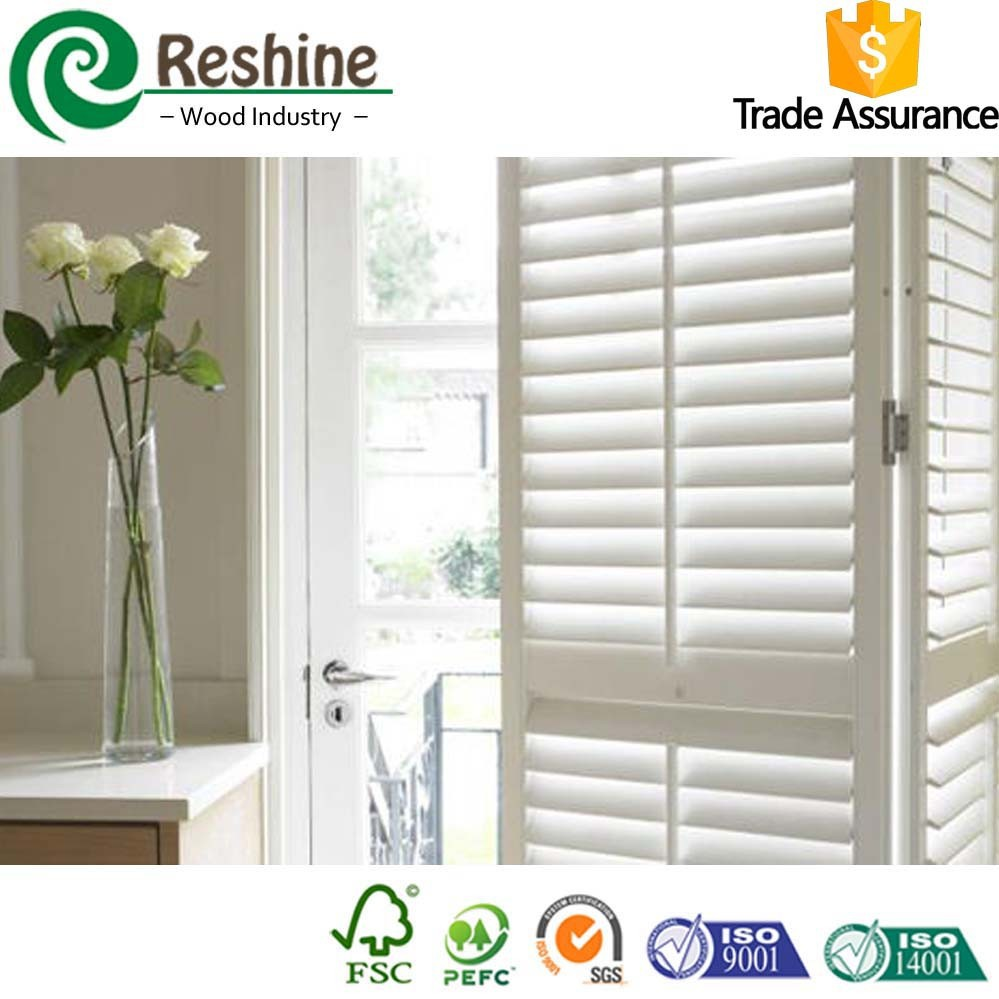 Extruded PVC Interior Shutters for balcony