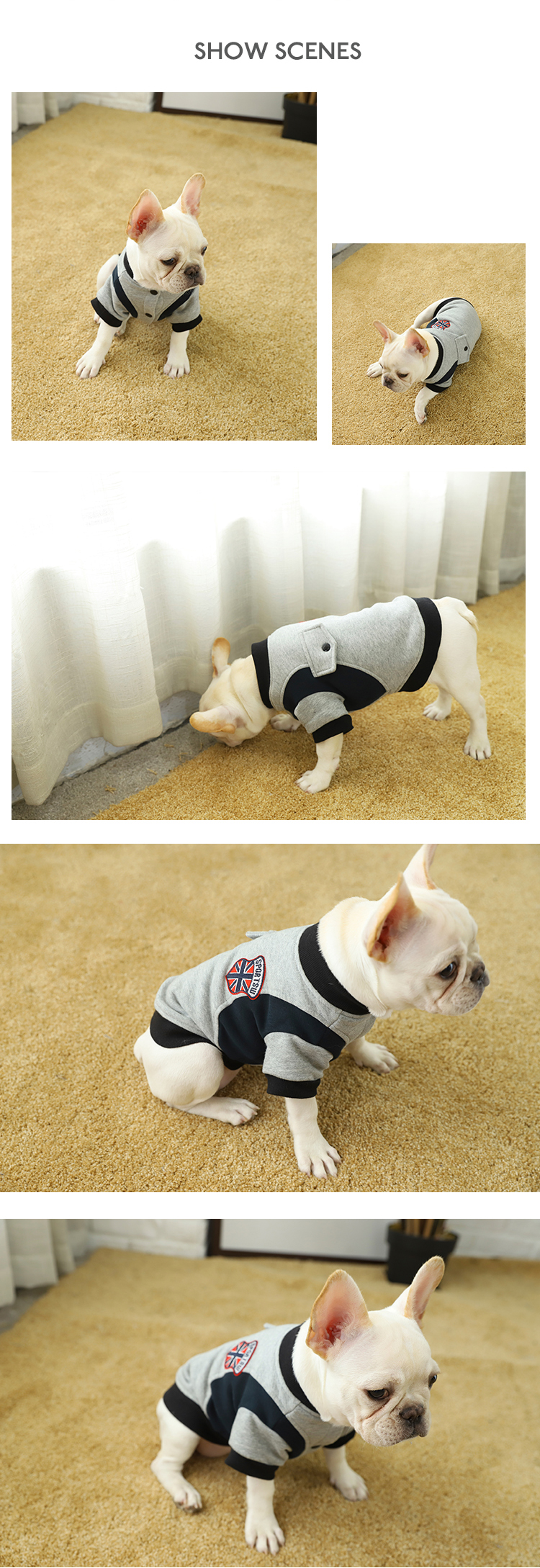 Tianyuan Pet Dog Coat,Handsome Fashion Dogs Cool Sports Style Wear For Small