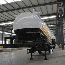3 axles 80t Bulk Cement Transport Tank Truck Trailer for sale