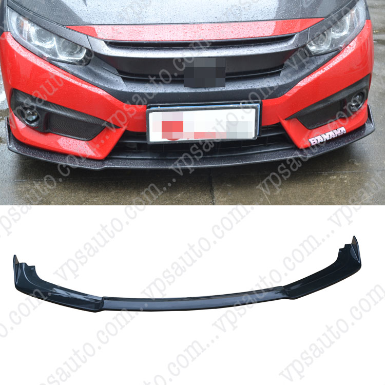 Carbon Fiber Front Bumper Diffuser Lip for Honda Civic 10th