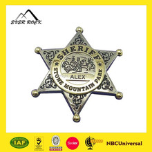 High Quality Metal Souvenir Official Custom Sheriff Badge