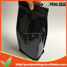 High quality laminated square bottom stand up pounch reclosable plastic bags