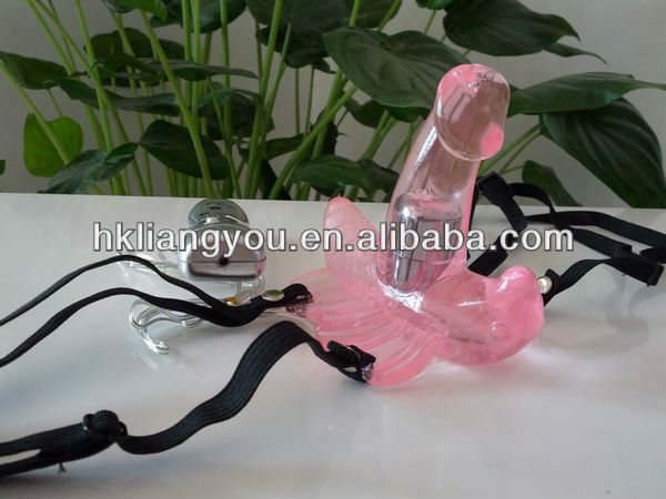 Wear type 7 code vibration with 1 min butterfly vibrating didlo GFF-1012-01