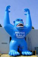 Blue inflatable gorilla animal giant Inflatable gorilla for advertisement