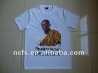 Heat transfer printing cheap cotton t shirts for president election campaign
