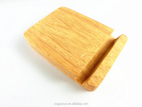 Multi-functional Natural 2 cm Thickness Rectangle Shape Original Wooden Display Stand Phone Holder