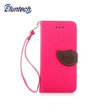 Colorful wallet kickstand leather cell phone cover for iphone 6s plus