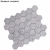 Hexagon Carrara White Mosaic Stone Tiles