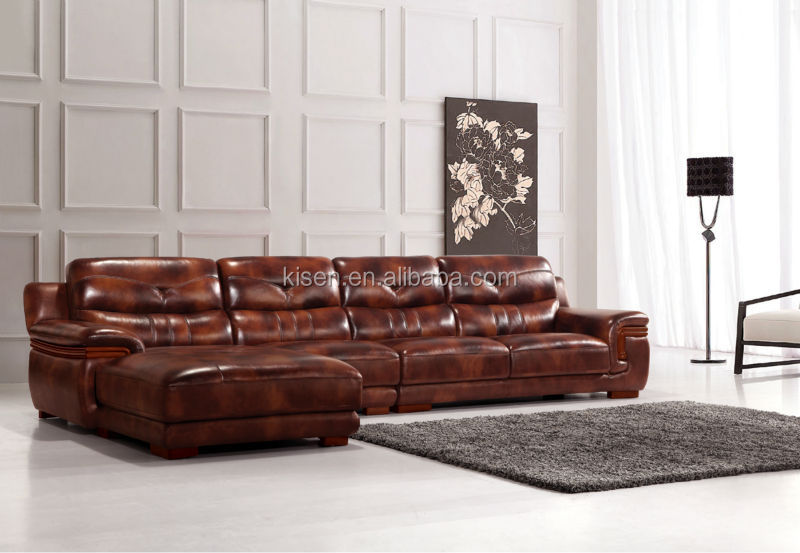KG365 Furniture top cow Leather sofa cama