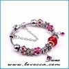 2015 Most Popular Products Silver Jewelry Bracelet Murano Glass Beads Charms Bracelet
