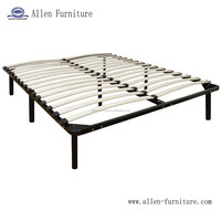 wooden slat bed frame 7 legs Queen