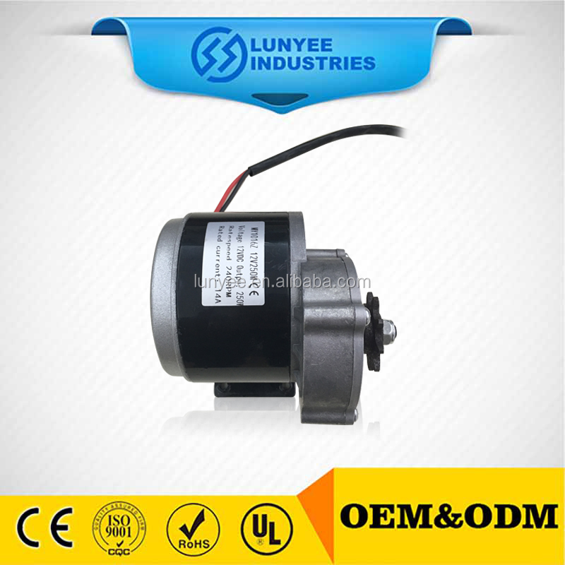 12v 200w 24v 250w low rpm dc electric gear motor