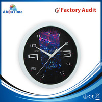 12inch round aluminium wall clock for promotion!