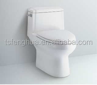 Siphonic Colsed-coupled One Piece Toilet Sanitary Ware Ceramic WC Bathroom Design