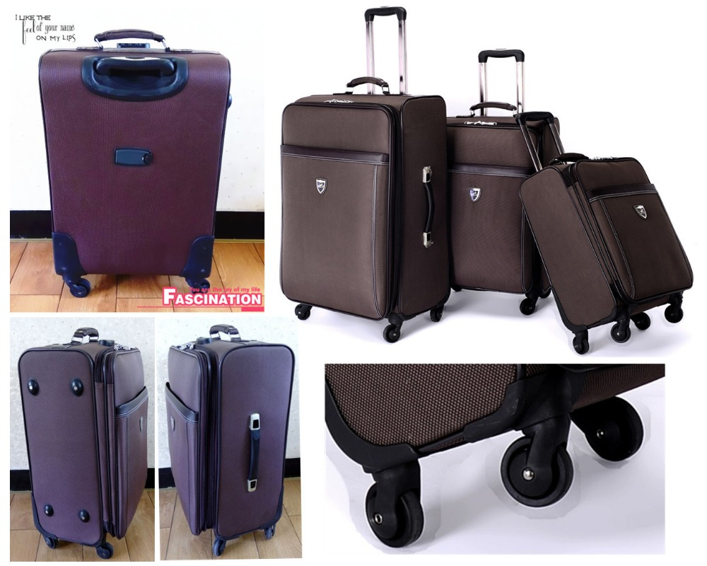 Aluminium trolley 1680D nylon fabric travel bag luggage