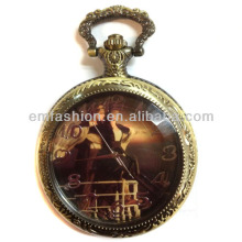 Fashion Promotional Antique Brass Romantic Titanic Photo Quartz Mechanical Pocket Watch