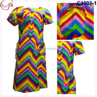 C1003 2016 latest fashion bright-colour simple cool striped African women's African kaftan Lady dress