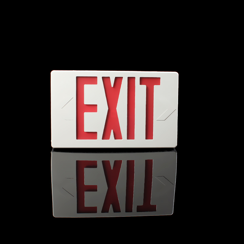 High quality led red exit sign emergency light