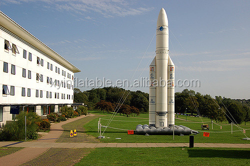 Custom zise giant inflatable rocket for sale