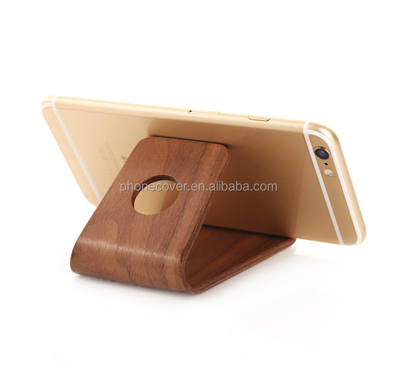 real natural wooden bracket for iphone,wood holder for all model,mobile phone accessories