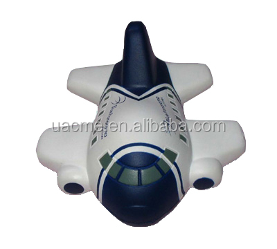Hot sale pu foam airplane shaped unti stress ball stress reliever