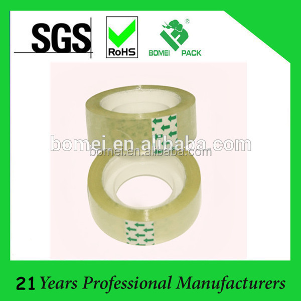 Bopp stationery tape with 1 inch plastic core